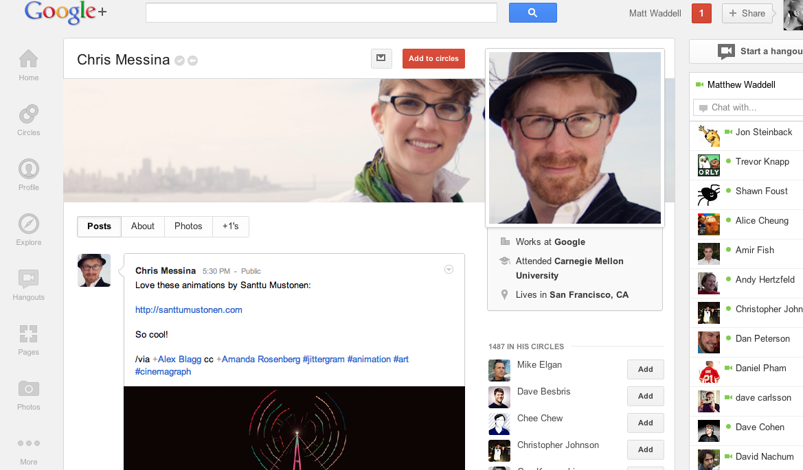 Wow fantastic look for Google +