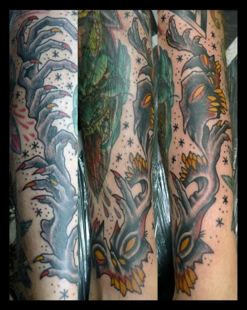 awesome filler tattoo by jef whitehead !