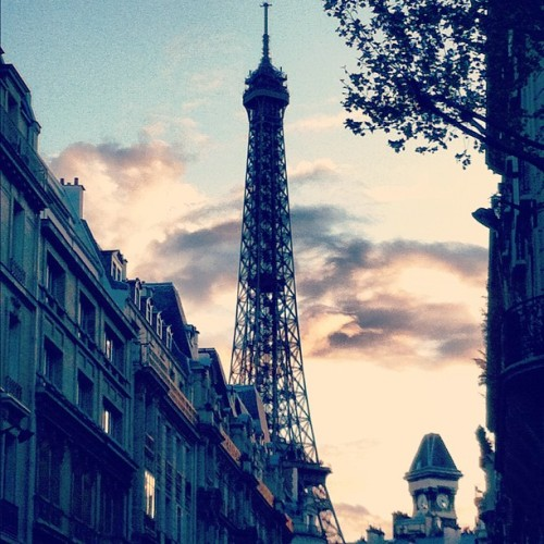 Eiffel tower  (Taken with Instagram at Avenue Bosquet - Paris)