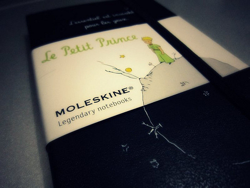Moleskine Le Petit Prince pocket plain notebook (by zǝna zena)
