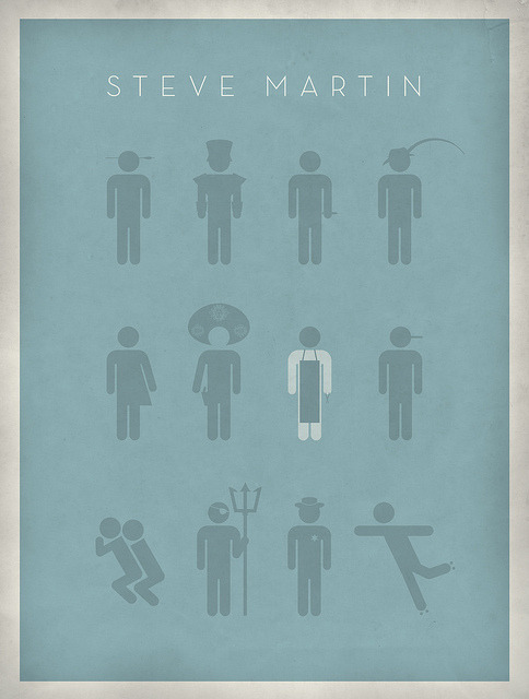 heyoscarwilde:  Those Aren't Pillows! Steve Martin(s) illustrated by Keith Greenstein :: via flickr.com