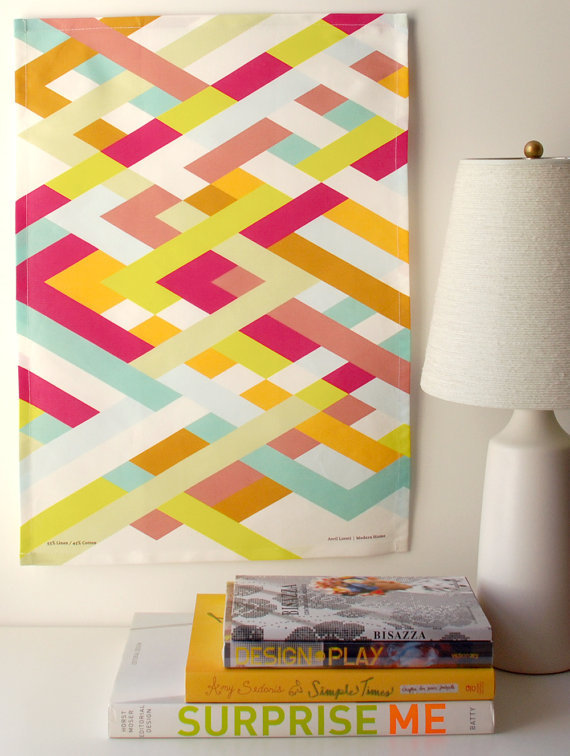(via Lattice Tea Towel by avrilloreti on Etsy)
