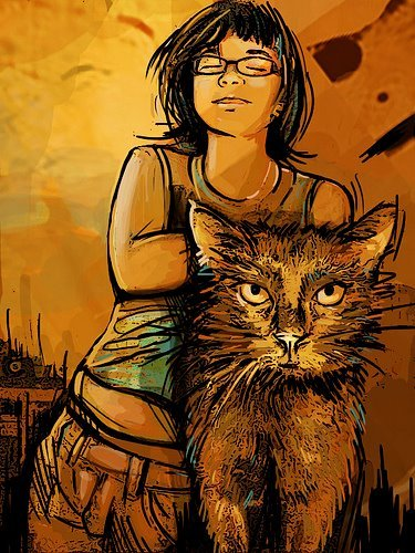 ALICE PASQUINI       Alice is an illustrator, designer and painter from Rome, Italy. She's done different design job for major companies, illustrations for booklets and more than often works in the urban environment. Her work has a social character and explores the different aspects of human interactions and other social aspects. She focusses on femininity and the varied facets of that theme. On the streets she mostly works with acrylic and spray-paint, making for gorgeous, impactful illustrations.