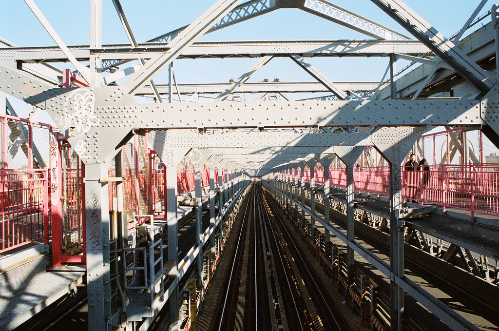 Tunnel  Nikon F3 | Portra 400  Williamsburg Bridge, Williamsburg, Brooklyn, NY