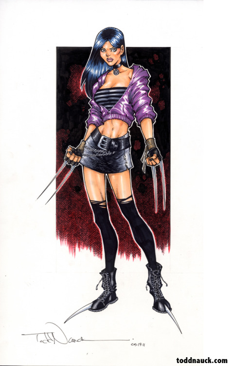 I've donated this X-23 color Copic marker piece for the C2E2 charity auction this Sat, 7:15pm to benefit St Jude's Children's Hospital.  Find me at Artist Alley table A-12 all weekend long. Commission sketch info here: http://bit.ly/HhPpFS