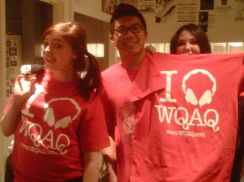 Our super snazzy red hot WQAQ STAFF TSHIRTS ARE IN! Not a staff member? A number of t-shirts will be raffled off at Festapalooza! Woohoo!