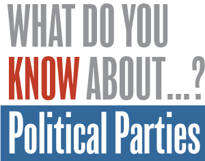 Take the quiz. Test your knowledge of the major political parties by taking our short 13-question quiz. Then see how you did in comparison with 1,000 randomly sampled adults asked the same questions in a national survey.