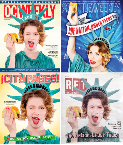 timmelideo:  A shoot I recently did for OC Weekly is on 4 covers around the US. Check them out if you are in the areas! Hair and Makeup by Aubrey Marie.
