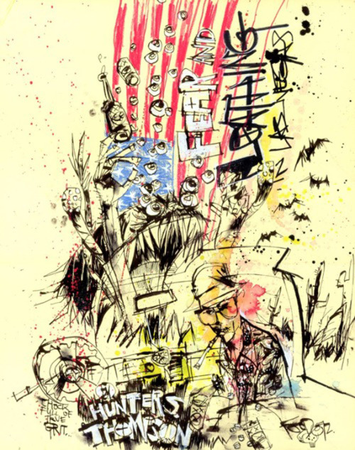 """Hunter S. Thompson"" by Jim Mahfood"