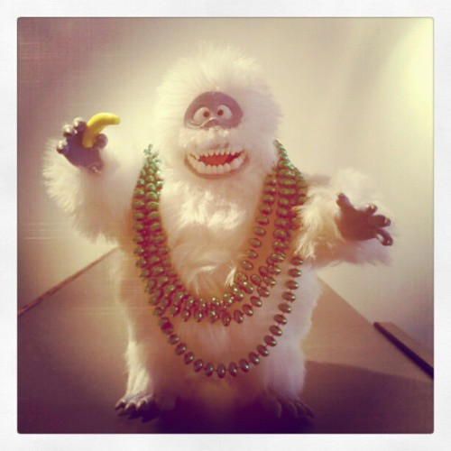 The Bumble Snow-monster of the North. With beads. Also, banana runt.