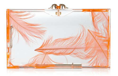 wgsn:  Light as a feather, this Charlotte Olympia perspex clutch is inspired.