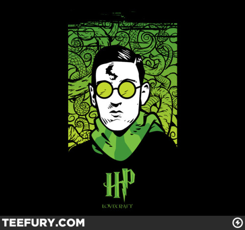 gamefreaksnz:  teevil:  Howard Phillip by NikHolmes on sale Sat 04/28/12 at teefury.com  USD$10 for 24 hours Follow the artist on Tumblr
