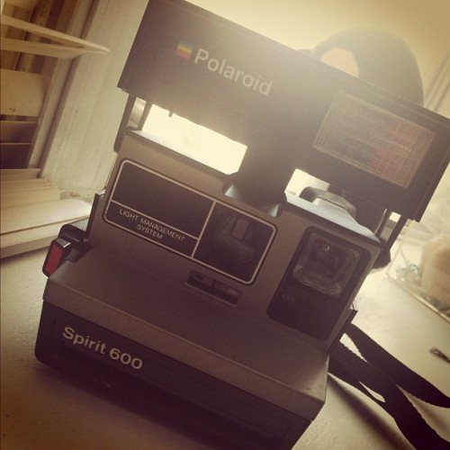 Found my moms old Polaroid camera  (Taken with instagram)