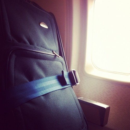 rac:  My companion for this trip. #smallplaneproblems (Taken with Instagram at Portland International Airport (PDX))