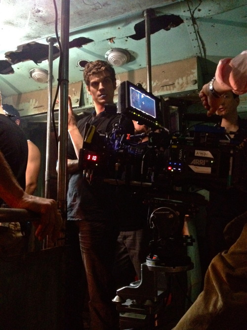 New cast member Daniel Sharman, on the set of Season 2.