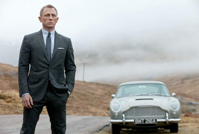 Bond is back and better than ever! Daniel Craig as 007 in Sam Mendes' Skyfall, with his classic car.