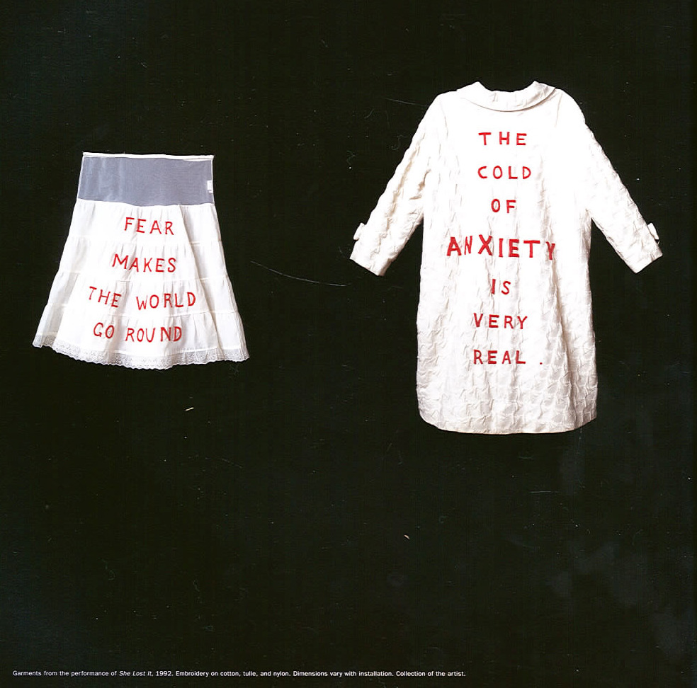 womanhouse:  Louise Bourgeois, She Lost It, 1992.