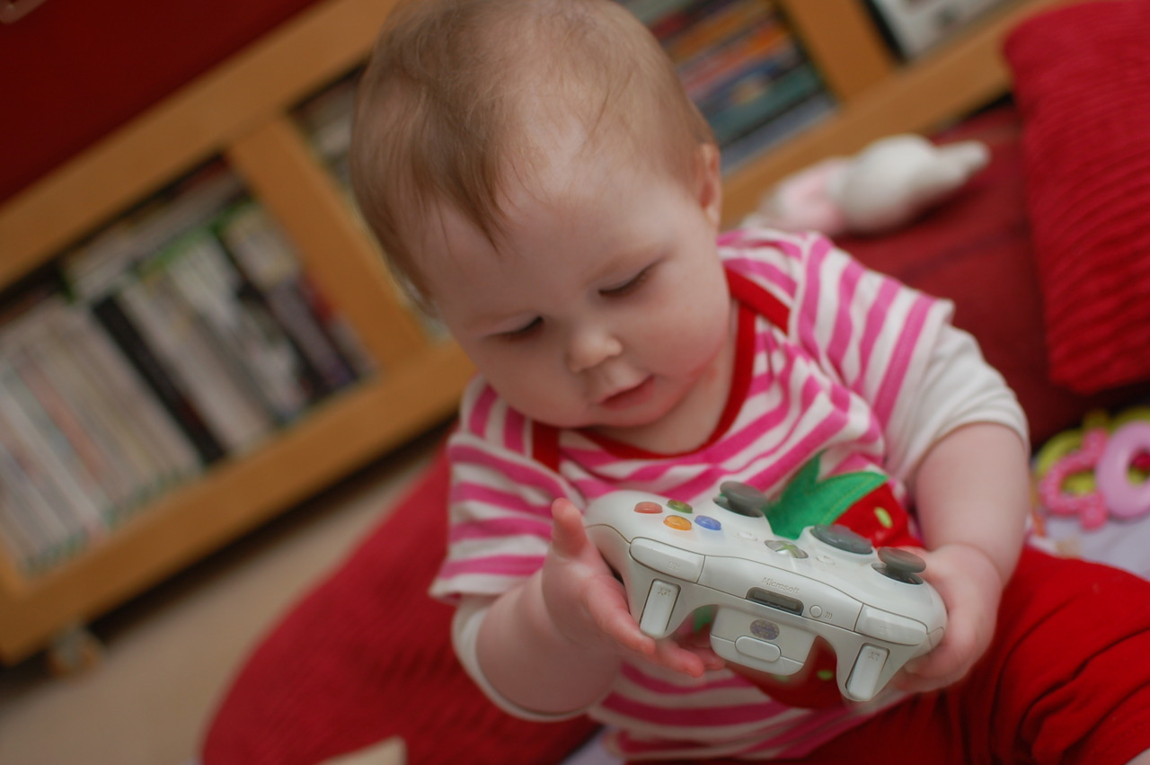High hopes that she'll grow up to be a gamer….