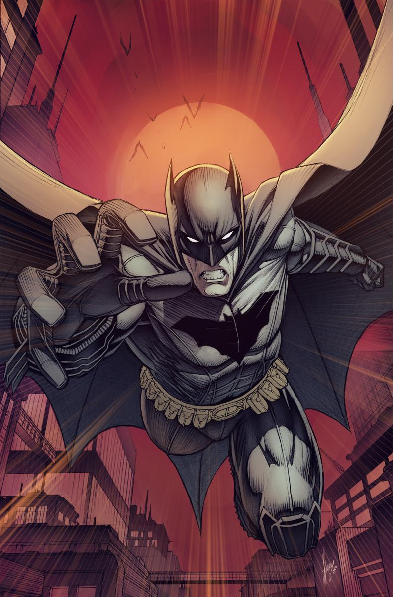 This is the variant cover to Batman #9, drawn by Dale Keown, as revealed at The Source. Keown's style sells the image, which is a very basic Batman visual, but in a good way.