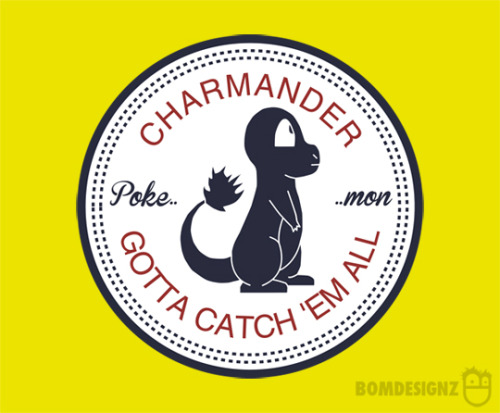 geekpride:  bomdesignz: Converse logo parody of the pokemon Charmander. Its something that I find very vintage in some sort of way. Converse shoes are iconic and back in the time Pokemon came out I remember everyone were wearing converse. Something that happens today also. And who doesn't love Charmander? I mean, come on! Buy @ redbubble
