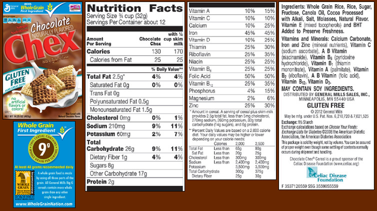 healthandheart:  Chocolate Chex Note: Wheat Chex® and Multi-Bran Chex® are not gluten free. Source - http://www.chex.com/Recipes/GlutenFree.aspx