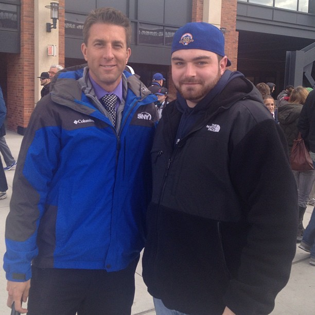 A photo of Kevin Burkhardt and myself.