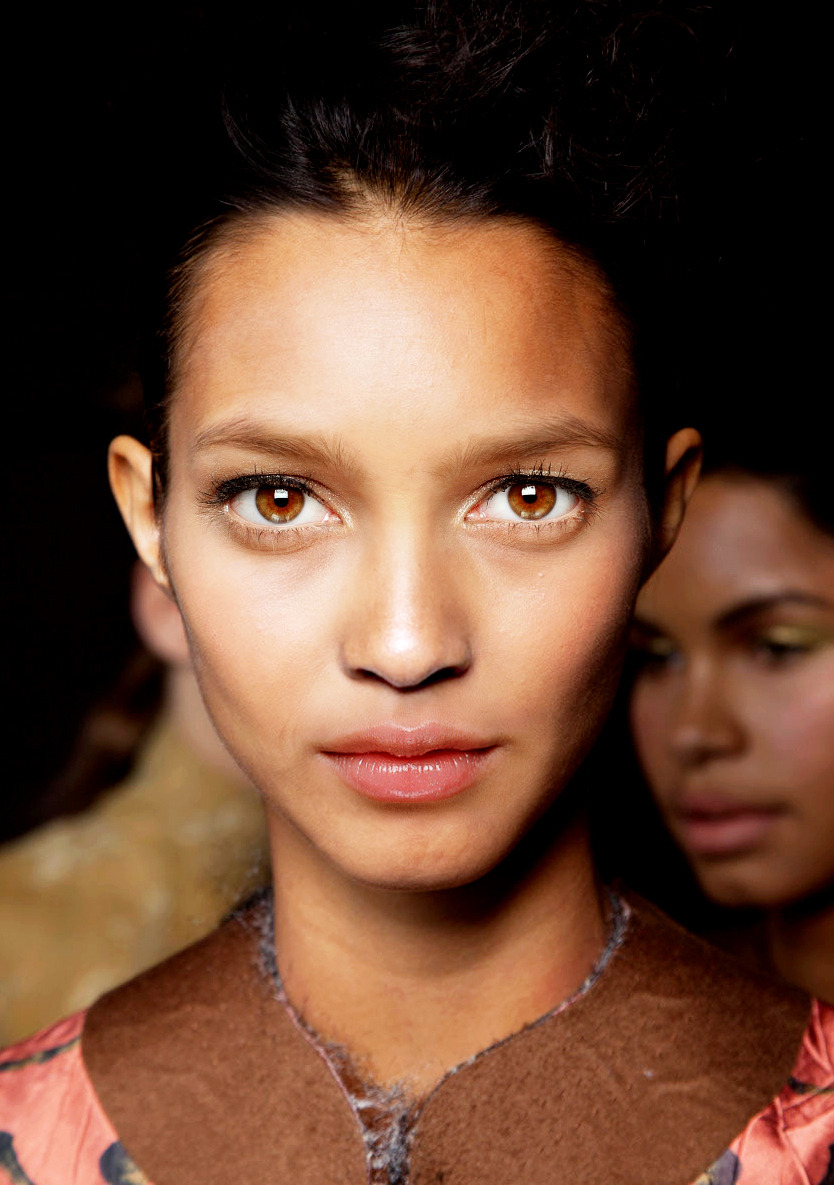 Base: Lais Ribeiro Eyes: Sigrid Agren Nose: Nyasha Matonhodze Mouth: Shu Pei