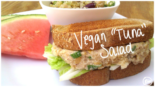 "riiaeatsright:  Riia's Vegan ""Tuna"" SaladAdapted from All Recipes Ingredients: 1 can Organic Chickpeas 2 tbsp Veganaise 2 tsp Mustard (any flavor…Delicatessen, Brown, Dijon, etc) Chopped Green Onions (desired amount) Chopped Celery (desired amount) Pepper (to taste) How to: Drain, rinse, and mash chickpeas. Add all ingredients into a bowl and mix them together. Refridgerate and enjoy! Whether it's on a sandwhich, veggies, crackers, anything! :)"