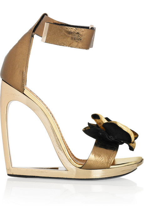 The Outnet's Lanvin sale isn't just for brides. Love these frame-wedge sandals!