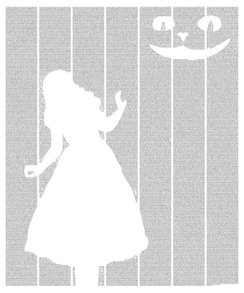 This Alice's Adventures in Wonderland poster is created using the entire text of the book.