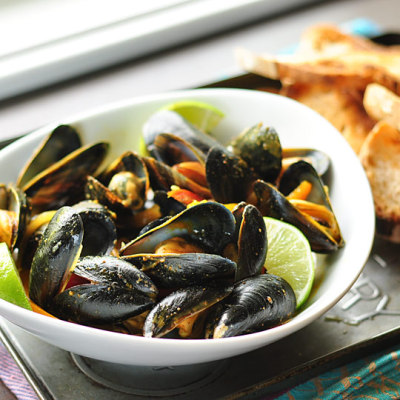 dietkiller:  Thai Red Curry Mussels