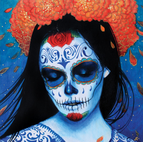urhajos:  'Calavera Azul' - a new work by Sylvia Ji