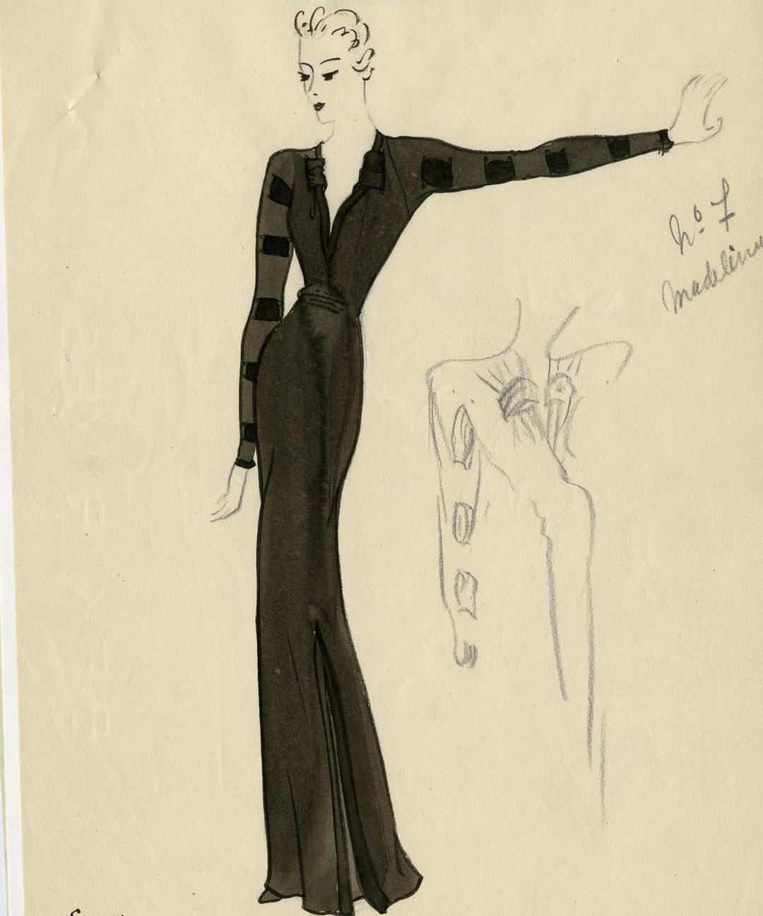wolvesofthewestcoast:  Balenciaga Atelier Sketch, Summer Collection 1937.