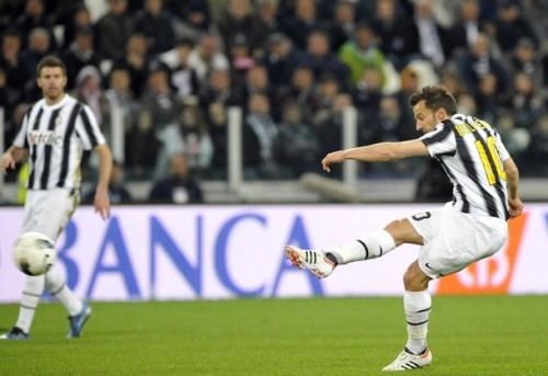 REUTERS PICTURES 3 HOURS AGO Juventus' Alessandro Del Piero shoots and scores a free kick against Lazio during their Italian Serie Asoccer match at Juventus stadium in Turin April 11, 2012.