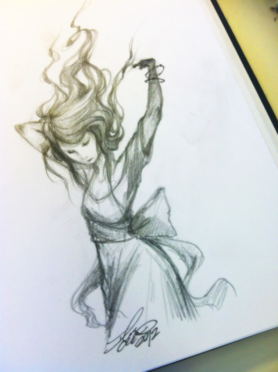 deathful:  sketch of the day. by iris chen.