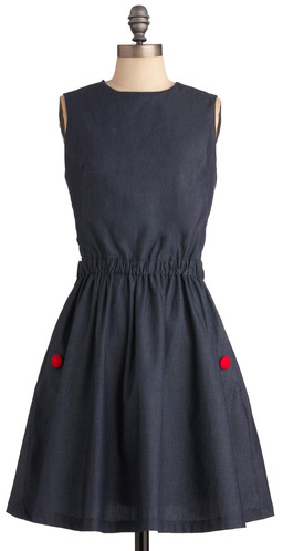 Modcloth Is It Delicious Dress in Denim - $84.99