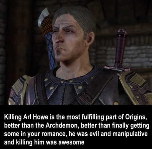 dragonageconfessions:   Arl Howe screenie courtesy of amandakitswell!!!