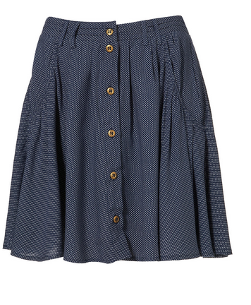 Topshop Pin Dot Button Through Skirt - $50.00