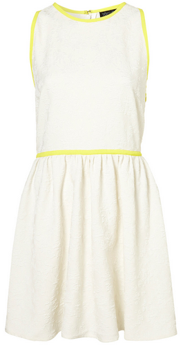 Topshop Fluro Piping Skater Dress - $110.00