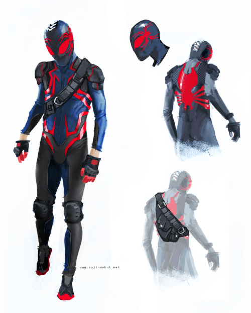 embrace-the-hate:  Spiderman Costume Redesign by ~anjinanhut