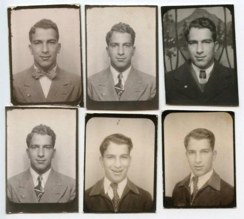 The same man - four different days - c.1940s