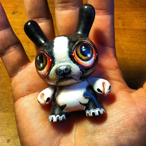 Commissioned Boston Terrier Dunny. #art #toys #dunny  (Taken with instagram)