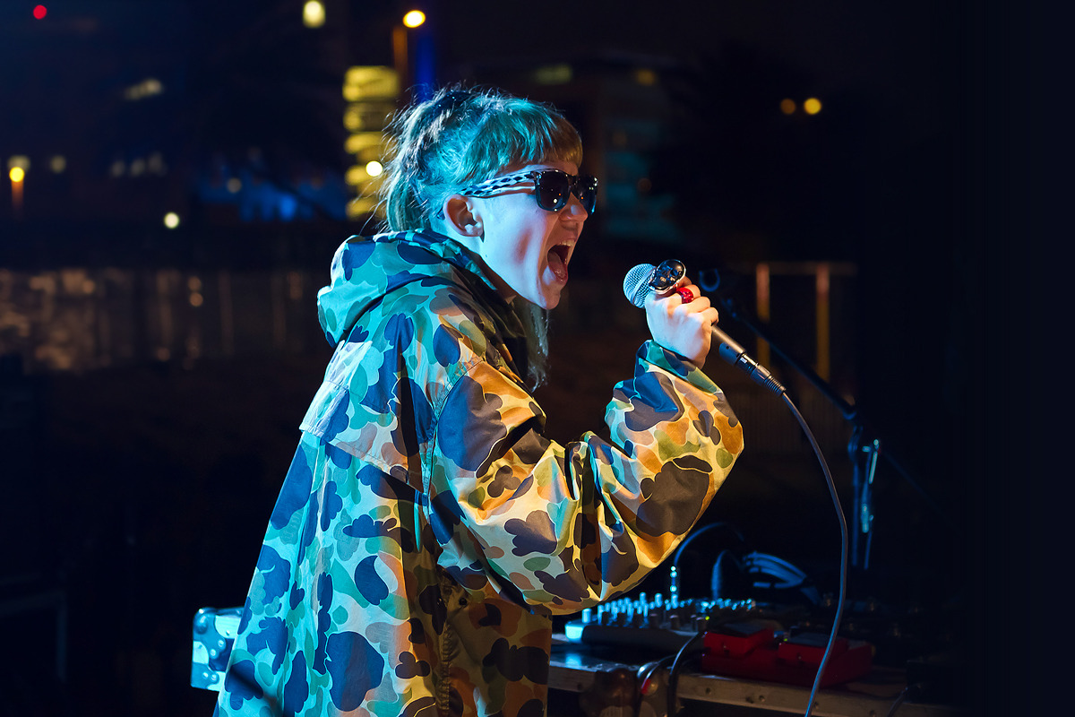 Another photo of Grimes at Festival Nrmal 2012.