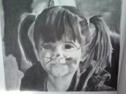 A charcoal drawing I did of my little sister when she was a toddler :)
