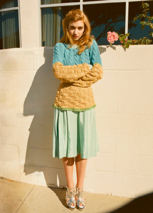 Imogen Poots shot by Hilary Walsh for Tank Magazine S/S 12
