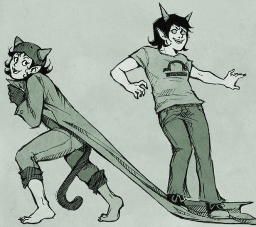 fleinne:   Anonymous asked you: Could you possibly do any Terezi and Nepeta art? :)  Sure!