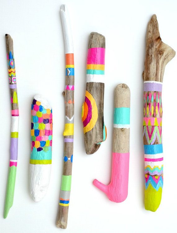 (via Painted Sticks 6 Piece Art Collection Photo by bonjourfrenchie)