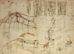 Davinci's plans for a flying machine to allow man to reach new heights.                   A Soviet Space Station from the Cold War.                    An American Shuttle from the Cold War.                    After decades of bitter fighting and threat of the nuclear destruction of mankind.                    Two completely opposing entities joined under a single goal: Allow man to reach new heights.