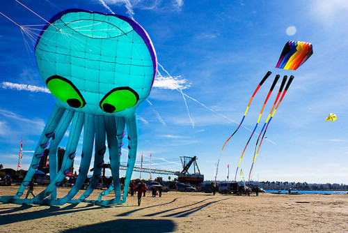 Squid kite. Attacks from above. #flyingsquid