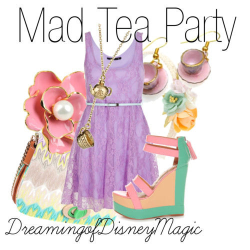 dreamingofdisneymagic:  Mad Tea Party by bryannnne featuring a lace dress